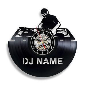 DJ Gift Wall Decor Vinyl Record Clock Art Home Design Music NEW