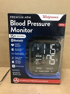 NEW Walgreens Premium Arm Blood Pressure Monitor Bluetooth Two User Setting