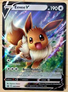 Pokemon 'Eevee V' Promo HOLO - NM - SWSH065