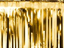 Partyvorhang Girlande gold Hochzeitsdeko Lametta 18,5x400cm