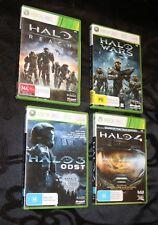 Microsoft Xbox 360 X4 GAMES 2010+ HALO Wars, HALO 3, HALO 4, HALO Reach - L@@K!!