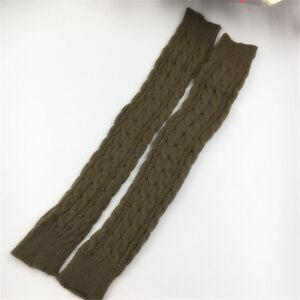 Winter Autumn Arm Warmer Womens Long Knitted Fingerless Gloves Mittens FASHION