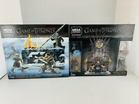 Mega Construx Game of Thrones set of 2 The Battle and The Iron Throne NEW Toys