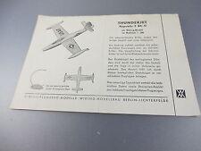 Wiking:Beiblatt für Flugzeug Thunderjet F84-G  (Kat3)