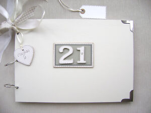 PERSONALISED. 21ST BIRTHDAY A4 SIZE..PHOTO ALBUM/SCRAPBOOK/MEMORY/GUEST BOOK.