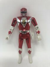 "Mighty Morphin Power Ranger - 5.5"" Flip Head Action Figure Metallic Chrome Red"