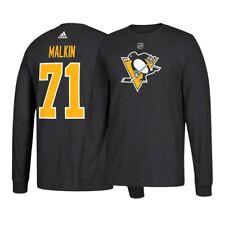 Evgeni Malkin NHL Pittsburgh Penguins Adidas Black Silver N&N Jersey T-Shirt