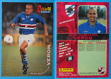 CARDS PANINI CALCIO 98 - N. 86 - JUAN SEBASTIAN VERON - SAMPDORIA new