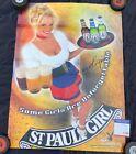 """PLAYBOY ST. PAULI GIRL JAIME BERGMAN AUTOGRAPHED 20"""" x 27"""" POSTER PSADNA H90627"""