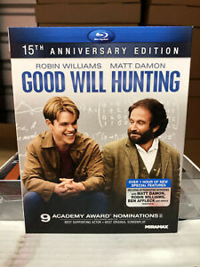 Good Will Hunting (Blu-ray, 2012, 15th Anniversary) NEW w/ OOP MINT SLIPCOVER