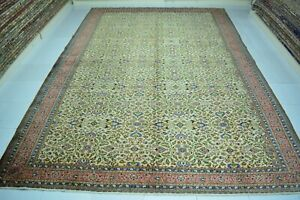 Large Turkish Rug 8x11,Low Pile Vintage Rug,Orginal Kayseri Rug,Faded Pink Rug