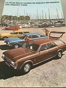Catalogue / Brochure FORD CONSUL / ESCORT / TAUNUS / GRANADA BREAK de 1973
