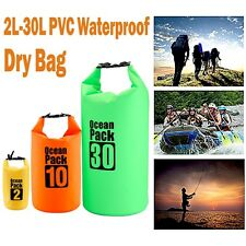 Waterproof Pouch Camping/Dry Bag for Kayaking Canoeing Rafting Swim 2L-30L UK
