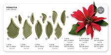 JEM 10 Set POINSETTIA Flower Christmas Design Cutter Icing Sugarcraft Cake Decor