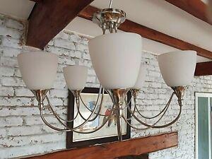 5 Arm Light Bulb Chrome Silver Colour Ceiling Light Fitting Modern