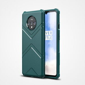 For OnePlus 7T Pro Shockproof Silicone Carbon Fiber Matte Soft Phone Case Cover