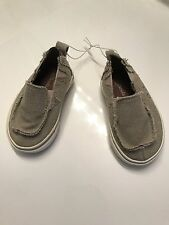 Brand New Little Boys Koala Kids Beige Boat Shoes Size 2
