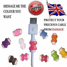 2x USB cavo Auricolari con fiocco Protettore Saver COVER per iPhone Samsung Smartphone