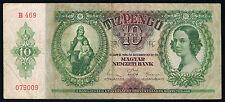 HONGRIE - 10 PENGO Pick n° 100 du 22 décembre 1936 en TB  B469 079009