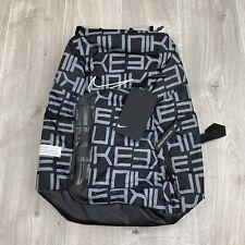Nike Elite Pro Mochila Negro Gris 34 litros BA6206 010 Nuevo