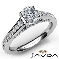 Dazzling Cushion Diamond Engagement GIA H VS2 Clarity Pave Ring Platinum 1.47Ct
