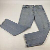 VTG LEVI'S 501 XX Button Fly Distressed Worn Denim Jeans 34x32