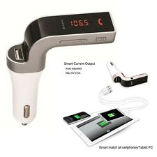 Safety Car FM Transmitter Adapter Wire Bluetooth Hands-free Kit With USB Charger