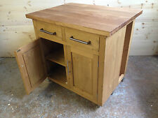 HANDMADE PINE KITCHEN ISLAND WITH SOLID OAK TOP (38MM)