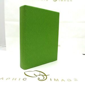 Graphic Image Photo Album Small 5x7 Ring Binder Clear Pockets Green