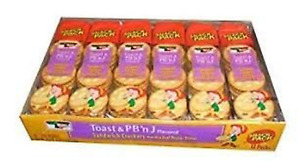 Keebler Toast and Peanut Butter and Jelly Flavored Sandwich Crackers Made with R