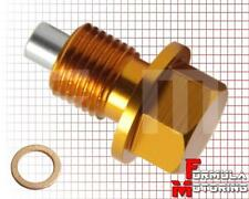 Gold M12x1.25 Magnetic Oil Drain Plug 12mmx1.25 Fits:Nissan Toyota Infinity