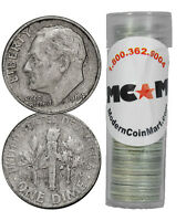 $5 Face Roll - 50 Coins - 90% Silver Roosevelt Dimes Avg Circulated SKU32669