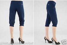 GUESS Women's Cropped Pants Sweatpants Sports Blue Size S