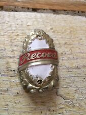Antique European Bicycle Head Badge Record Headbadge Bike
