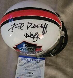 Raiders Fred Biletnikoff Autographed Hall Of Fame Mini Helmet Psa Auth