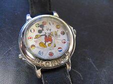 Vintage Lorus Japan Musical Mickey Mouse International Flags Watch Needs Work