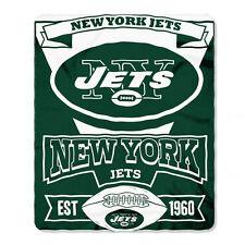 "New Northwest NFL New York Jets Soft Fleece Throw Blanket 50"" X 60"""