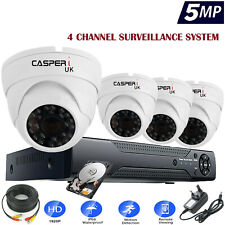 5MP 4CH CCTV SYSTEM 4K UHD DVR HD OUTDOOR CAMERA HOME SECURITY KIT UK