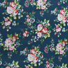 100% Craft Crafting Sewing Cotton London Floral Birds Flowers Metre Fabric