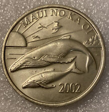 2002 MAUI NO KA OI ONE DOLLAR TRADE HAWAII TOKEN COIN MEDAL