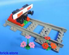 LEGO® Eisenbahn gerade Schiene mit  Prellbock Nr.5 / rot  mit Puffer