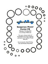 Dangerous Power DP Fusion F8 Paintball Marker O-ring Oring Kit x 2 rebuilds