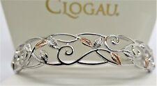 Clogau Silver & Rose Gold Awelon Cuff Bangle