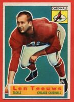 1956 Topps #46 SP Rookie Len Teeuws EX-EX+ WRINKLE Chicago Cardinals FREE SHIP