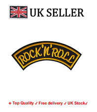 Rock n roll Iron /Sew On Embroidered Patch Badge Rock and roll Embroidery Motif