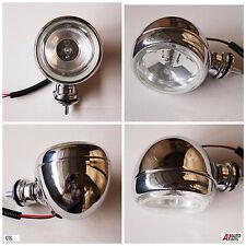 """1 x Cromado Antiniebla Delantera Halógeno Redondo lamp12v 55w H3 3.55 """"Motocicleta Moto Nuevo"""