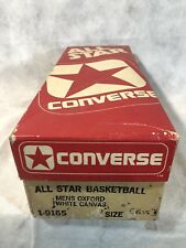 Vintage 1970's Converse Chuck Taylor All Star White Shoes Original Box Only