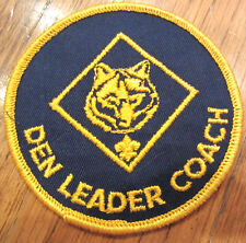 Blue Gold Webelos Den Leader Coach Uniform Boy Scout Patch Bsa