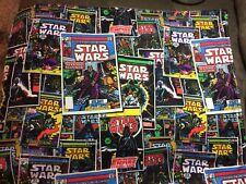 VTG Star Wars LOT ~ empire strikes Fabric Square, LMT ED GAME & Nib Crochet Set