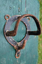 Vintage Equestrian Bridle Tack Rack hook peg cast iron coat industrial reclaimed